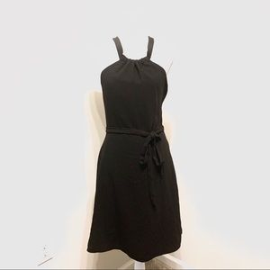NWT Theory Black Nayline Elevate Crepe Dress Sz 2